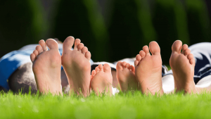 Family Feet on grass